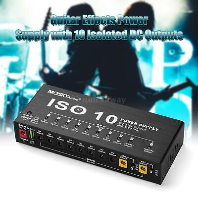 $ CDN87.51 • Buy ISO-10 Isolated Outputs Guitar Effect Pedal Board Power Supply 9V 12V 18V J2X9