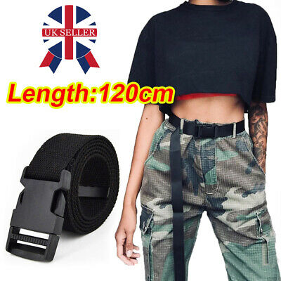 £4.66 • Buy Mens Womens Quick Release Buckle Military Trouser Waist BELT Army Canvas Webbing
