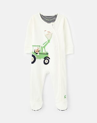 Joules Baby Boys Zippy Organically Grown Cotton Zip Sleepsuit 0-12 Months • 8.96£