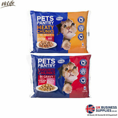 £16.23 • Buy HiLife Pet Pantry Favourite Chunks Gravy Or Meaty Chunks Jelly 4 X 100g Per Pack