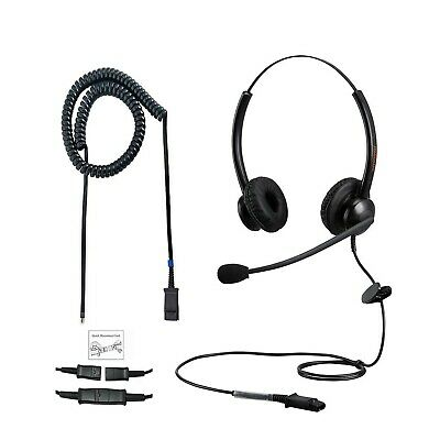 N/X Corded Telephone Headset Two Ears With Noise Canceling Mic For Landline P... • 55.99£