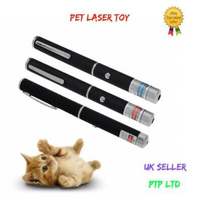 Laser Teaser Pen Cat Pointer Kitten Play Toy Mouse Projecting Flash Fun Exercise • 3£