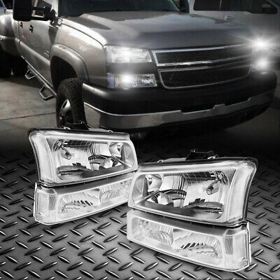 $80.70 • Buy For 03-06  Chevrolet Avalanche 1500 Black Housing Clear Lens Headlights Assembly