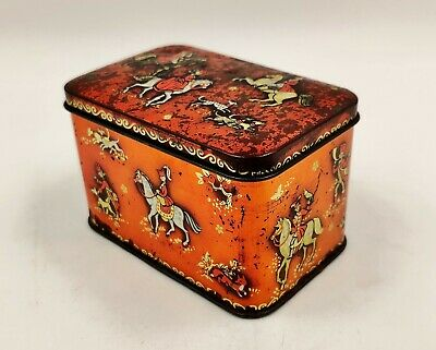 Vintage Advertising Confectionery/Sweet Tin-Horner-Red And Gold-Horses/Riders • 11.99£