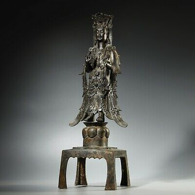 Exceptional Chinese Northern Qi Period Bronze Gilt Buddha • 43,000£