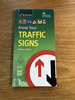 £5 • Buy Know Your Traffic Signs By Great Britain: Department For Transport...