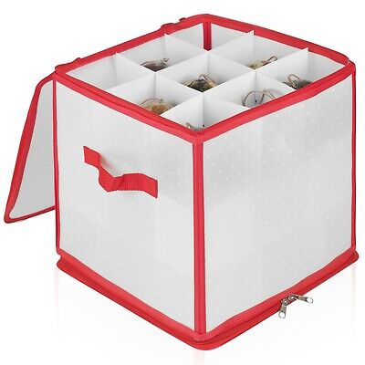 £8.49 • Buy Christmas Decoration Ornament Organiser Baubles Storage Box 27 Slot With Zip Lid