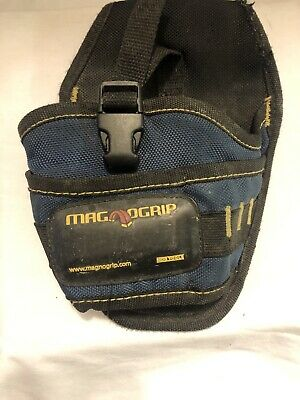 $9.99 • Buy Magnogrip By Mdg Tools Blue Tool  Pouch For Belt With Clip In