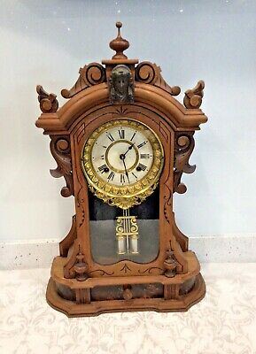 American Ansonia Good Quality 8 Day Mantle Clock • 230£