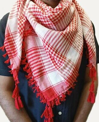 £4.99 • Buy  Arab Shemagh Head Scarf Neck Wrap Authentic Cottton Palestine Arafat Face Mask