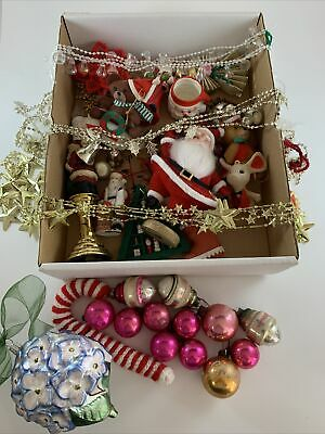 $ CDN56.63 • Buy Mixed Lot Christmas Ornaments Decorations Wreath Making Crafts Some Vintage #2
