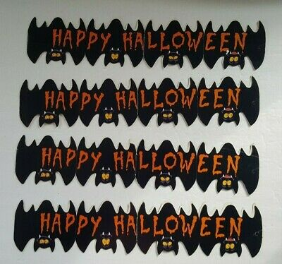 $ CDN17.24 • Buy Vintage Happy Halloween Bat Border - School Paper