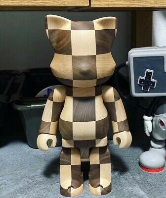 $1400 • Buy Rare Medicom NY@BRICK KARIMOKU CHESS 400% Bearbrick Wooden Figure From Japan F/S