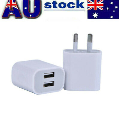 AU17.98 • Buy 2X AU  Dual Plug USB Wall Charger Power Adapter  For IPhone 5 6 78 X 11 Pro IPad