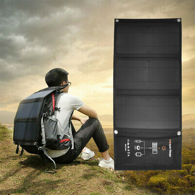 21W Solar Charger With Foldable Panel For IPhone X 8 Plus Samsung IPad Tablet • 37.49£