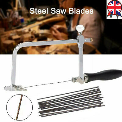 Jewellers Piercing Saw Frame Jewellery Adjustable  Making Tool +12PCS Saw Blades • 14.64£