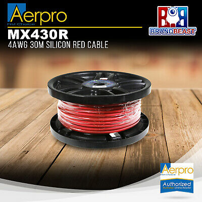 AU159.44 • Buy Aerpro MX430R 4AWG 30m Silicon Red Cable