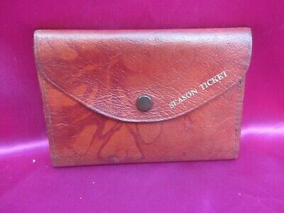 £2.99 • Buy Vintage Collectable Leather Season Ticket Holder/wallet - Used Excellent