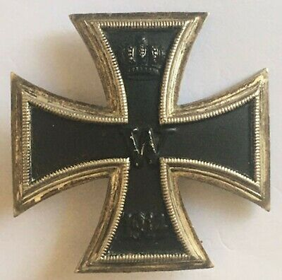 Medal German Ww1 Iron Cross 1 St Class Not Maker Marked Three Part Magnetic Core • 185£
