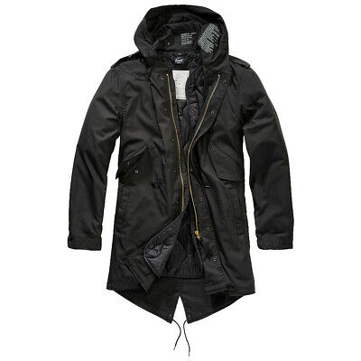 $203.95 • Buy Brandit M51 US Parka Cotton Lining Outdoor Casual Mens Hooded Fishtail Black