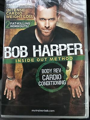 EXERCISE DVD Bob Harper Inside Out Method BODY REV CARDIO CONDITIONING New • 4.99£