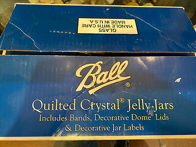 $30 • Buy       VINTAGE  Ball® Quilted Crystal Jelly Jars 4 Oz - 12 Pack Regular Mouth