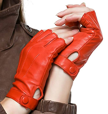 $25.99 • Buy Pure Leather Half Finger Gloves   Driving Biking Cycling Performance Dancing