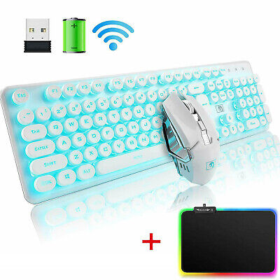 AU72.28 • Buy Wireless Rechargeable LED Backlit USB Gaming Keyboard Mouse And RGB Mousepad Set