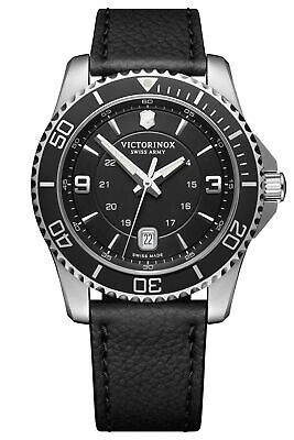 Victorinox Swiss Army Mens Maverick Black Dial & Leather Strap Watch 241862 NEW  • 223.99£
