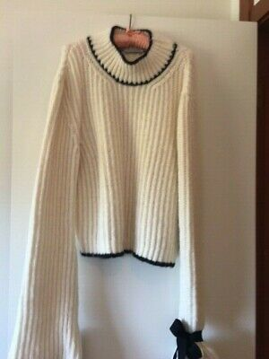 $ CDN187.98 • Buy J.W. ANDERSON Ivory W/Black Trim Sweater Size XL For The Collector!