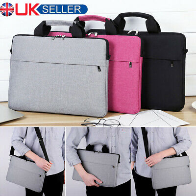 15.6 Inch Laptop Shoulder Bag PC Waterproof Carrying Soft Notebook Case Cover UK • 9.99£