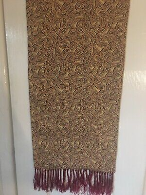 Mens Vintage Tootal Burgundy/Paisley Scarf, Small Hole On Reverse - See Pic • 8£