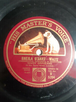 The Savoy Orpheans - Sheila O'Shay / Indian Butterfly-78rpm Shellac Savoy Hotel • 18£