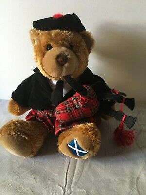 £7 • Buy NWT Keel Toys Scottish Piper In Kilt Playing The Bagpipes Hug Me Teddy Bear