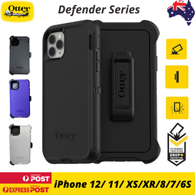 AU49.90 • Buy Otterbox Defender Case For IPhone 11 12 Pro 12 Pro Max XR XS 8 7 SE 6 6S Cover