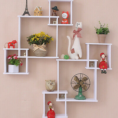 AU8.69 • Buy Living Room Decor Wooden Wall Mounted Shelf Display Hanging Rack Storage