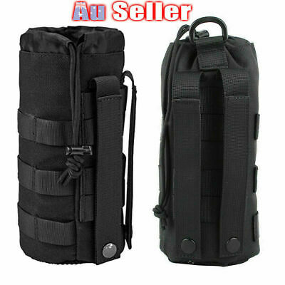 AU14.99 • Buy Outdoor Tactical Molle Water Bottle Holder Pouch 1000D Military Sport Bag Hiking