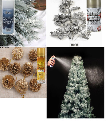 Gold Silver Glitter Instant Snow Window Glass Spray Paint Christmas Decoration • 4.99£