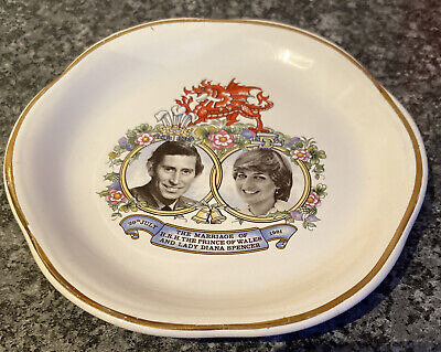 Ringtons Newcastle China Plate 1981 Wedding Lady Diana Prince Charles By Palissy • 6.99£