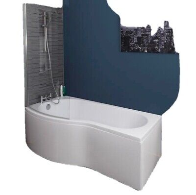 P Shaped 1700 Bath, Screen And Side Panel • 210£