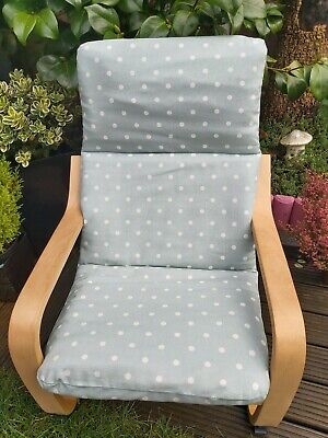 Ikea Poang Kids Chair Cover,  Duckegg Colour Children's Cushion,washable,padded, • 16£