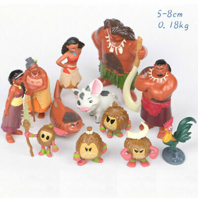 12pcs Lovely Moana Princess Adventure Collection Action Figure Doll Toy Gifts UK • 7.69£