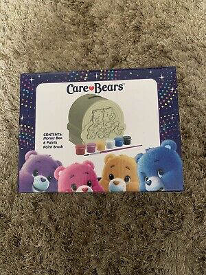 £3.99 • Buy Paint Your Own Rainbow Care Bears  Money Box  - With 6 Coloured Paints & A Brush