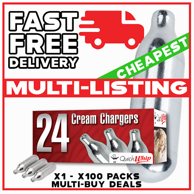 Cream Chargers Nitrous Oxide Canisters Mr Whip N2O NOS & Mosa Whippers Option • 14.99£