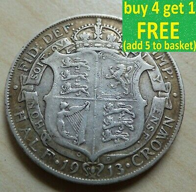 £6.99 • Buy George V Half-Crown Silver Coins Choose Your Date 1910-1936 Choice
