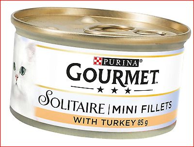 Gourmet Solitaire Wet Cat Food Premium Fillets With Turkey In Sauce 85 G - Pack • 11.98£