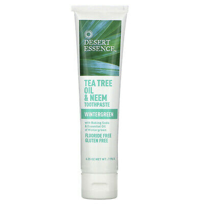 Desert Essence, Tea Tree Oil & Neem Toothpaste, Wintergreen, 6.25 Oz (176 G) • 11.95£