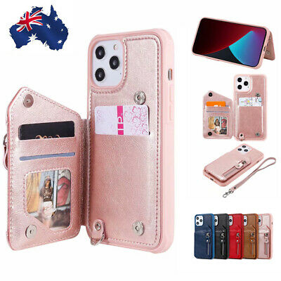 AU16.99 • Buy For IPhone 12 11 Pro Max Mini X XS XR 8/7/SE Plus Case Leather Card Back Cover