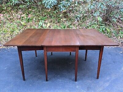 $900 • Buy Vintage Solid Mahogany 72  Drop-Leaf Straight Leg Dining Table W/Two 24  Leaves