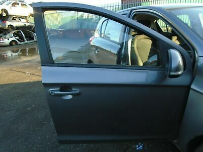 12 Hyundai I20 Style 5 Door Offside Front Bare Door-grey 08-14 Breaking Car • 124.99£